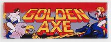 Golden Axe Marquee FRIDGE MAGNET (1.5 x 4.5 inches) arcade video game header