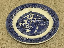 """ANTIQUE c.1907 WOODS WARE BLUE SCENERY Sectional PLATE WOODS AND SONS 10 1/2"""""""