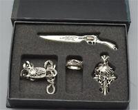 Anime Final Fantasy FF8 metal Cloud Sword necklace bracelet ring 4pc+ box