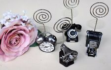 80 Vintage Wedding Place Card Holders (Telephone, Camera, Clock, Gramophone)