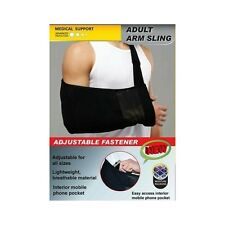 ツ Pro Care Adult Arm Sling Brace Adjustable Fastener Support One Size Fits All
