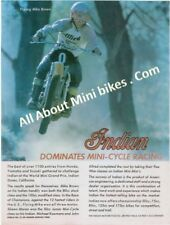 Flying Mike Brown Motocross Ad 1974 Mini-Cycle Magazine Copy