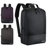 "Waterproof 15.6"" Laptop Backpack Men Women Anti-theft School Travel Bag USB Port"