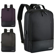 "Waterproof 15.6"" Laptop Backpack Men Women Anti-theft School Travel Bag USB Port"
