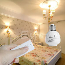 E27 10M Wireless Remote Control Screw Light Lamp Bulb Holder Cap Socket Switch
