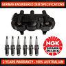 6x Genuine NGK Spark Plugs & 1x Ignition Coils for Holden Vectra JR JS