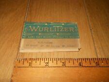 Original Wurlitzer 1080 1015 1100 2000 1800 1700 Jukebox Operator's Card
