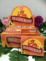 Genuine Hem Dragons Blood Incense Cones 12 Pack of 10 Cone= 120 Cones Total