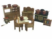 Calico Critters Sylvanian Families Vintage TOMY Home Sweet Home Kitchen set HTF