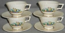 Set (4) Lenox RUTLEDGE PATTERN Cups and Saucers MADE IN USA