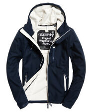 Superdry Hodded Windtrekkereclipse Navy Ecru Jacket With Fleece Inner Men's L