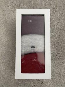 Brand New Women's Calvin Klein Crew Socks Boxed (Pack Of 3) Glitter Mix