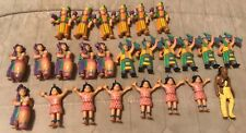 Lot of 25 Vintage SOMA Native American Rubber Action Figures *Free S&H*
