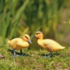 Set of 3 - Baby Duck Ducklings Plastic Garden Ornament Decoy Decoration #4L266