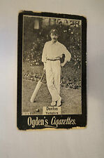 "1901 -Vintage -Ogden's - ""Blank"" Back Cricket Card - D.Denton - Yorkshire."