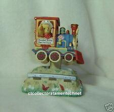 Cherished Teddies Musical Bear In Train Engine Car NIB