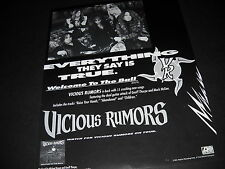 Vicious Rumors Everything They Say Is True 1991 Industry Only Promo Display Ad