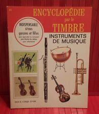 vintage 1967 Encyclopédie par le Timbre #11 Instruments de musique sticker book