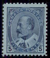 CANADA #91 5¢ blue, og, NH, VF, Miller certificate, Scott $625.00