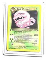 DARK WEEZING - 31/82 - 1st Edition Team Rocket - Rare - Pokemon - NM