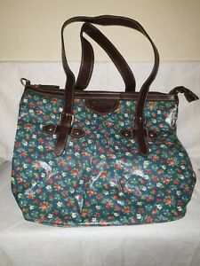 BNWOT Lovely Cath Kidston Leather and Oilcloth Bag