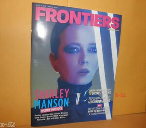 FRONTIERS magazine SHIRLEY MANSON (of Garbage) COVER heart Grace Jones madonna