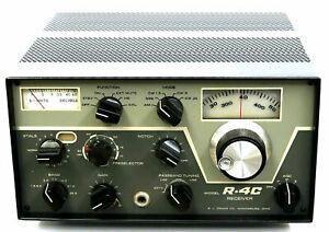 DRAKE R-4C AMATEUR RADIO HF SSB AM TUBE RECEIVER + RCC4 CRYSTAL CALIBRATOR