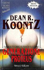 """[842] ECONOMICA TASCABILE ed. Fanucci 1978 n.  1 Koontz """"Generazione Proteus"""""""