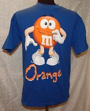 M&Ms T-shirt M Blue Orange Top Unisex Candy Advertisement Food M & M Character
