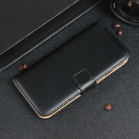 Luxury Genuine Real Leather Flip Case Wallet Cover For Motorola Moto G