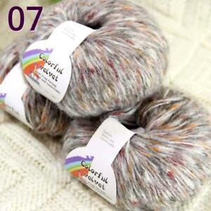 Sale New 3BallsX50gr Fluffy Soft Colorful Wool Shawls Hand Knit Crochet Yarn 07