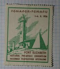 Penapex Penafu Exhibit 1956 Port Elizabeth S Africa Philatelic Souvenir Ad Label