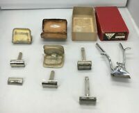 Vintage LOT of 4 Safety Razors and 1 Ace Hair Clipper