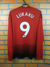 Lukaku Manchester United jersey large 2019 long sleeve shirt Cg0048 Adidas