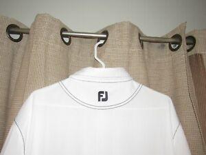 FOOTJOY FOOT JOY Mens XXL White Athletic Fit Golf Polo Shirt Microfiber