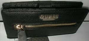NEW GUESS WOMEN'S WALLET BLACK COLOR AYDRIANA GROUP