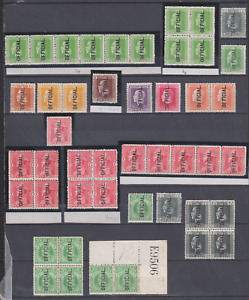 New Zealand 1910/30's Official Collection MNH & Mint Mounted  BLOCKS & STRIPS
