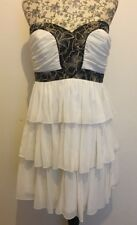 LIPSY BNWT Womens Cream Sequinned Pleated Peplum Dress Size 10 UK £75