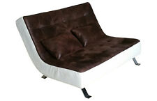 Doppio LETTINO DIVANO chaise longue chaise lounge lettino relax 516-mm-ll-pu immediatamente