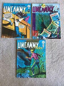 Uncanny Tales X Three Magazines No's 106, 130, 134