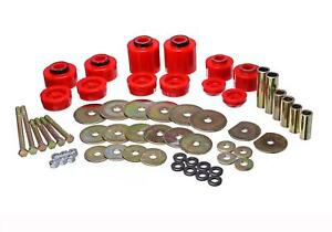 Body Mount Bushings Polyurethane Red Ford Kit