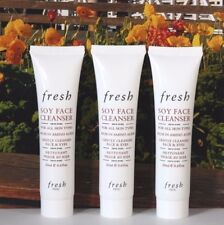 3 x Fresh Soy Face Cleanser - 20ml / 0.6oz Each - Travel Size New