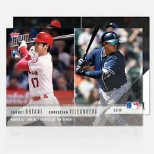 2018 Topps Now~Card #159 ~ Ohtani / Villanueva ~ Named AL & NL Rookies of the MO