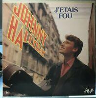 """Rare LP 33Tours (12"""") Johnny Hallyday """" J'étais fou """" 1981 Mode 509089 (EX/EX)"""