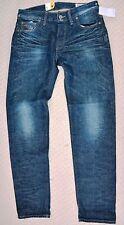 NUOVO G-Star Raw Uomo 3301 a sigaretta RL Rosso inserzione Martello 50778 Jeans Blu W31