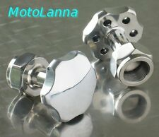 Stainless & Aly Top Yoke Nut Honda GB500 CB350 CB450 CB550 CB750 SOHC Cafe Racer