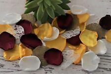 Burgundy Sunflower Yellow Rose Petals Rustic Boho Wedding Decor Flower Girl