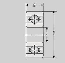 Miniatura cuscinetti a sfere 6803 2rs/61803 2rs/17x26x5