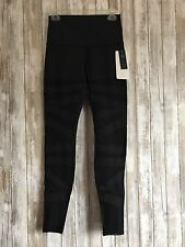 RARE Lululemon Wunder Under Pant Se Special Edition Black Tech Mesh Luon 8 Gym *