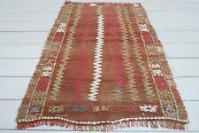 "Vintage Turkish Small Kilim Doormat Bathmat Decor Wool Rugs Carpet Tapis 29""X41"""